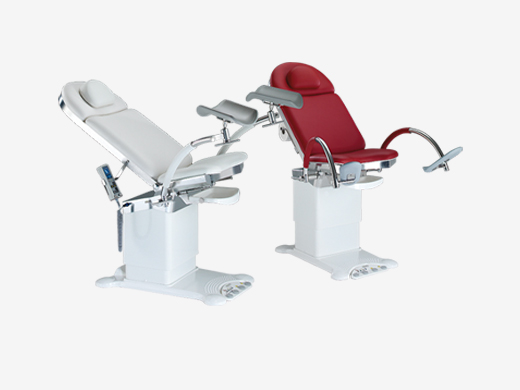 Examination chairs for gynaecology, urology and proctology