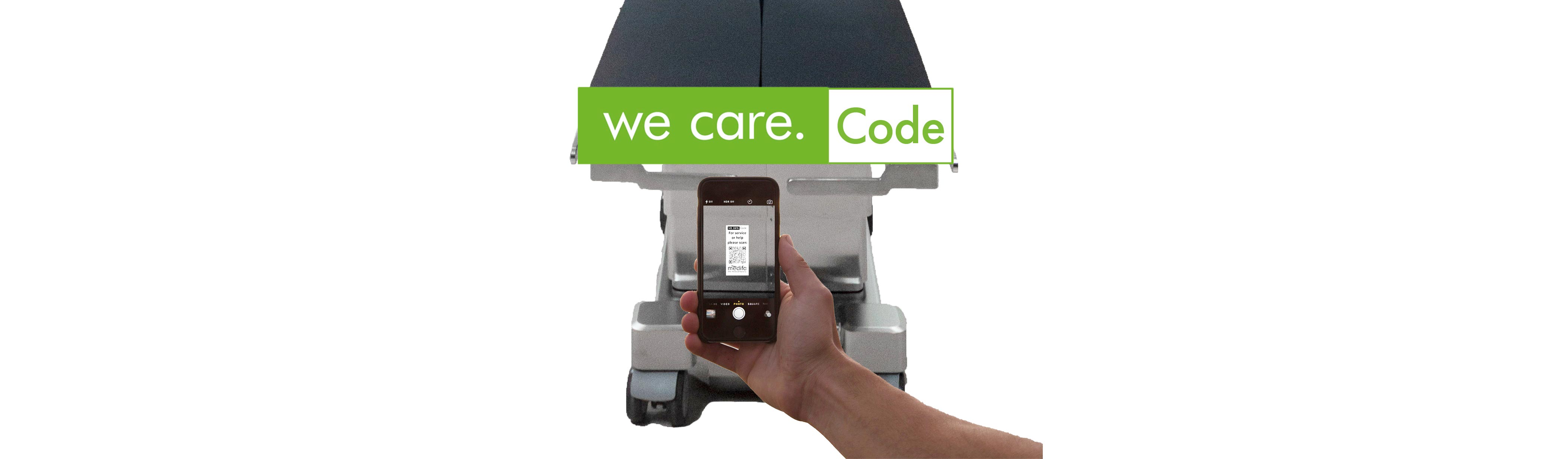 We care. Code – Neues Service-Angebot bei medifa